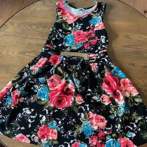 Floral sun dress for girl size 12 mint condition